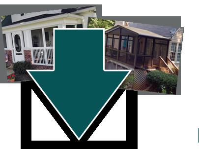 Get a free screened in porch cost estimate today for Portico cost estimate