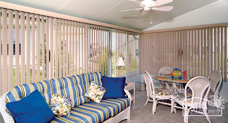Sunroom Vertical Blinds