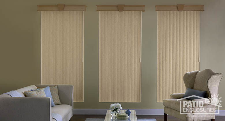 Sunroom Vertical One Touch blinds