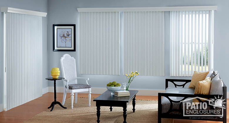 Living Room Window Treatments Sunroom Blinds Ideas