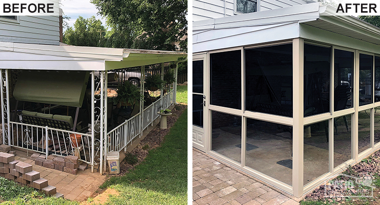 Year-round Bronze Solarium Before & After Pic