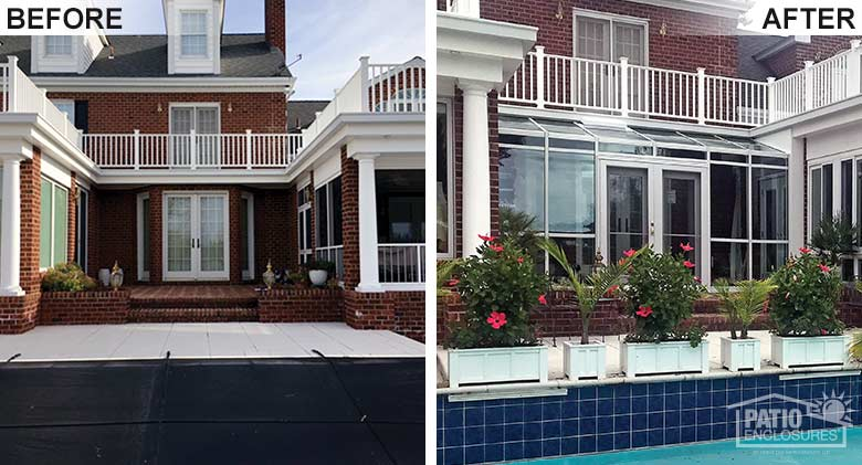 Patio Cover Before & After Pic