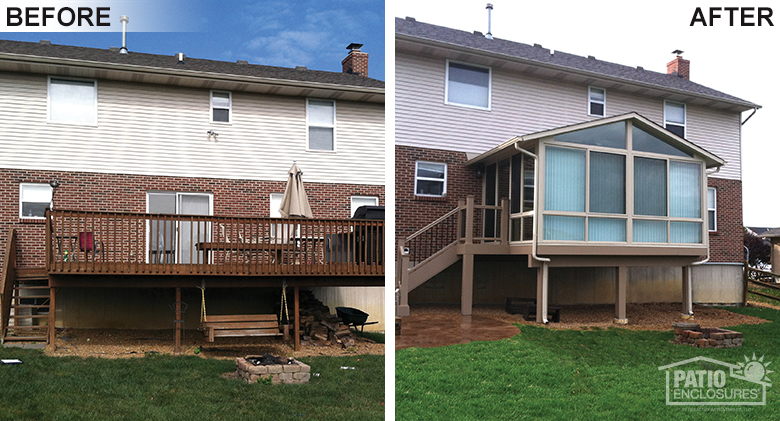 Before And After Split Level Home With A Sunroom