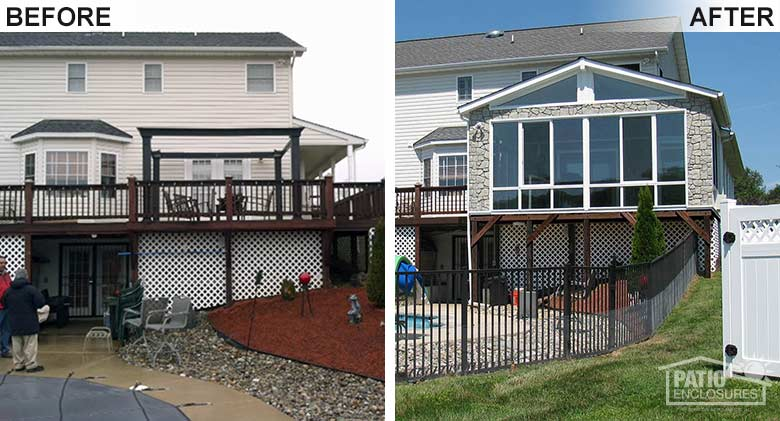 Before Amp After Sunroom Pictures Patio Enclosures Projects