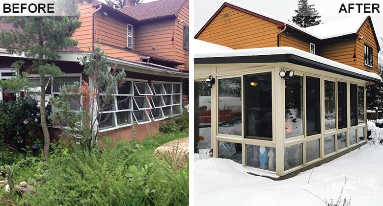 Four Season Rooms Before & After Pic