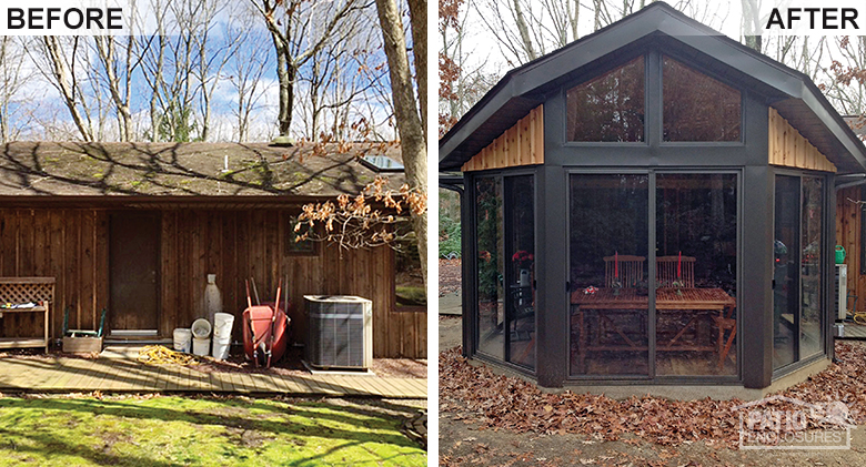 Retractable Awnings Before & After Pic