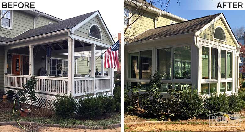 Before and After Sunroom Image
