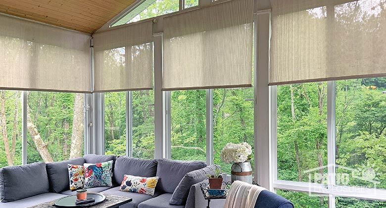Roller shades for a clean, contemporary look.