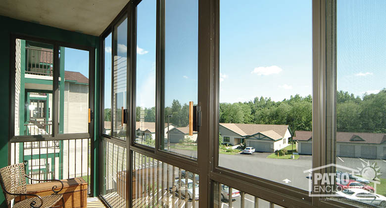 Bronze Screen Room With Pickets At Avila Retirement Living, Albany, NY  Interior Commercial Patio Enclosure ...