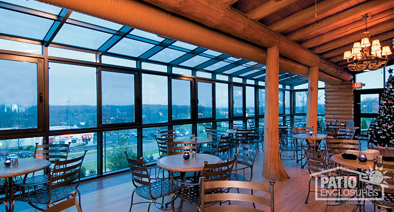 Bronze solarium at Blue Canyon restaurant near Cleveland, OH