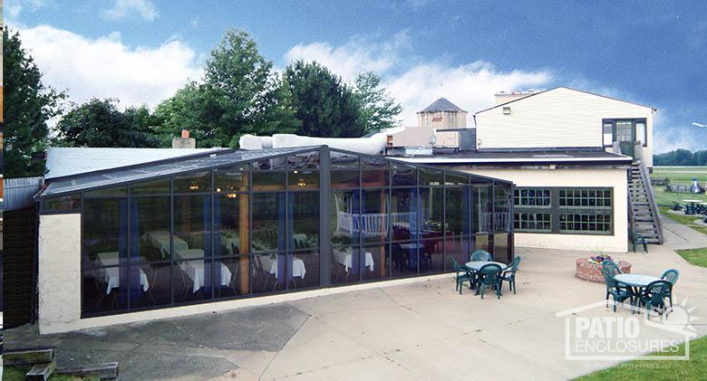 Bronze Gable Roof Solarium At 356 Fighter Group Restaurant Exterior Commercial  Patio Enclosure ...