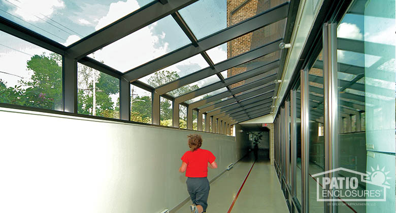 Bronze Straight Eave Solarium At Club La Maison Health U0026 Fitness Club,  Philadelphia Commercial Patio Enclosure ...