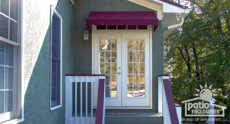 How do you build a wood framed awning over a front door of a home