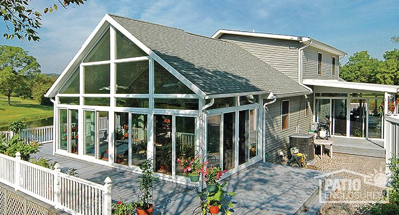 How to enclose a patio porch or deck for 3 season sunroom designs
