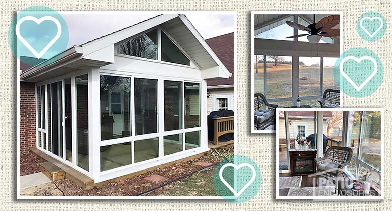 Three Season Room with Insulated Glass — Burnettsville, IN
