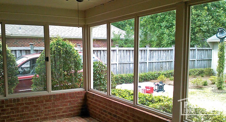 Wonderful Porch Enclosure With Existing Brick Knee Wall And Foundation (Interior)