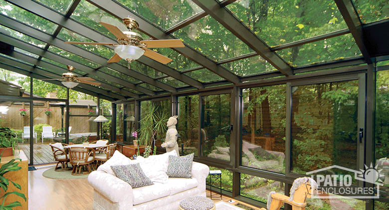 Bronze Solarium with Single-Slope Roof Interior