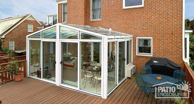 beautiful solarium additions #10: White with sloped roof exterior