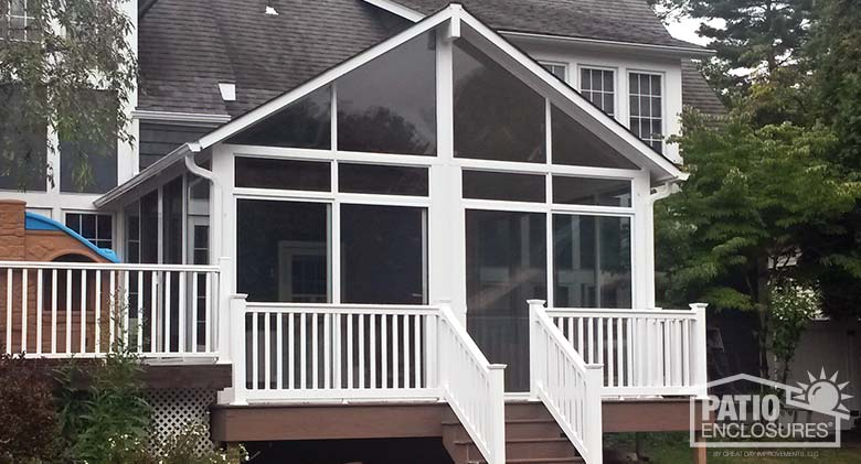 Sandstone Aluminum Frame Sunroom with Light Blue Tint Glass