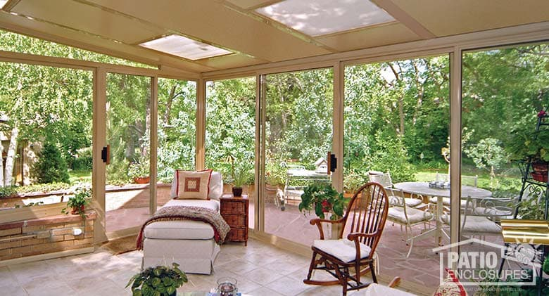Sunroom flooring options ideas for 4 season sunroom