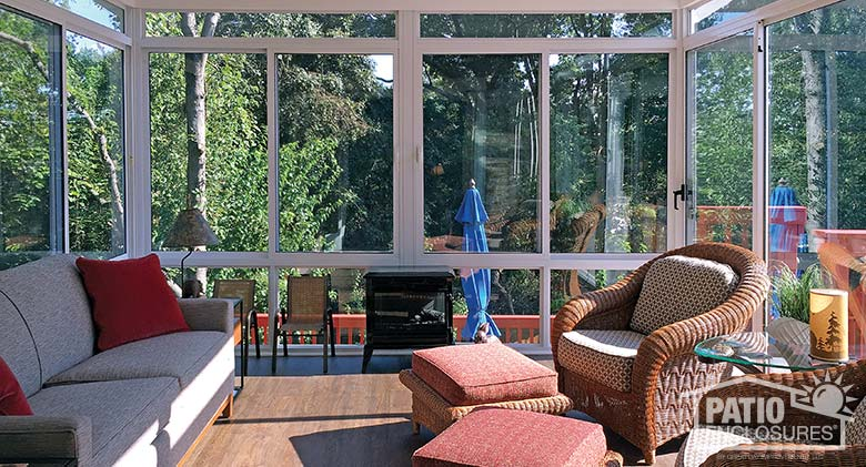 three season sunroom addition pictures & ideas | patio enclosures - Gable Patio Designs
