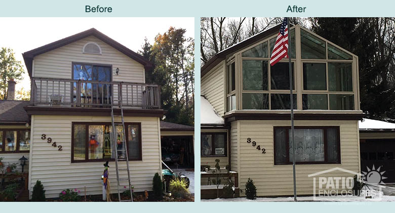 Before and After Buffalo Solarium Image