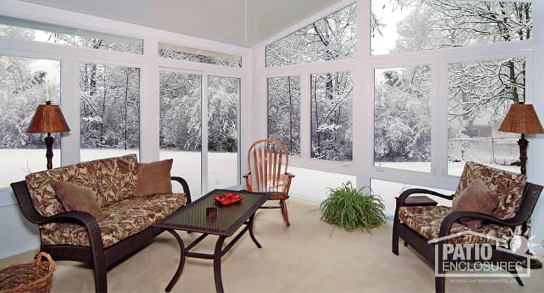 Sunroom In The Cold Winter Months