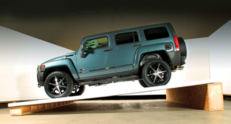 Hummer on Sunroom Roof