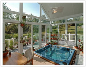Hot tub enclosures hot tub enclosure a small hot tub can fit perfectly well on a small deck - Enclosed balcony design ideas oases of serenity ...