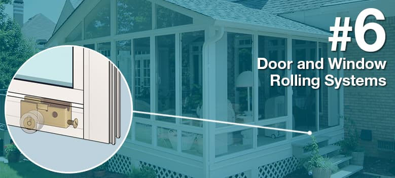 Sunroom Terms - Door and Window Rolling Systems