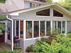 Traditionally-framed sunroom