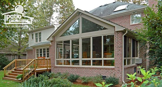 Atlanta sunroom with deck