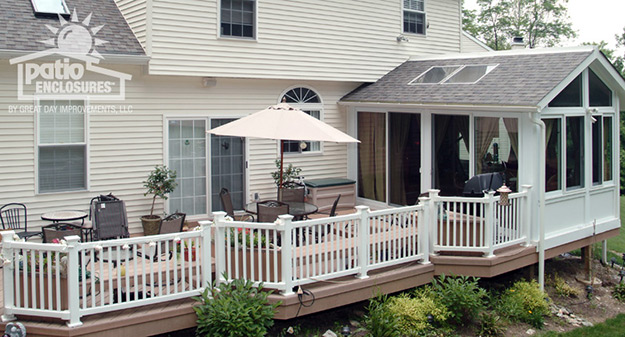 Sunroom with deck ideas pictures for 4 season porch plans