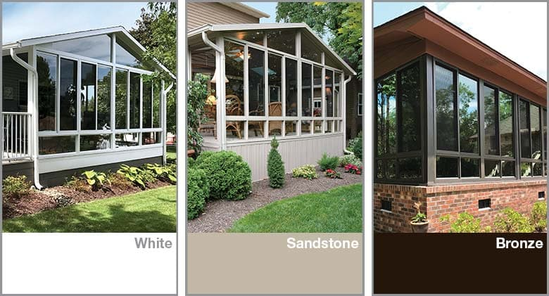 Sunroom Frame Color Options