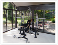 Patio Enclosures Sunroom as Home Gym