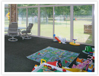 Patio Enclosures Sunroom as Kids Playroom