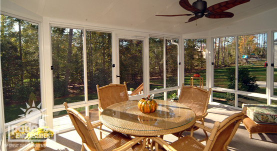 Autumn screened porch