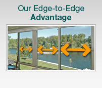 Patio Enclosures - Edge-to-edge advantage