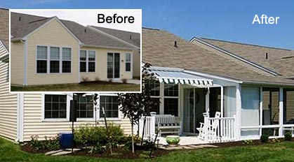 Before & After Sunroom Photos