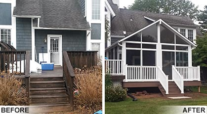 Before & After Sunroom Pictures