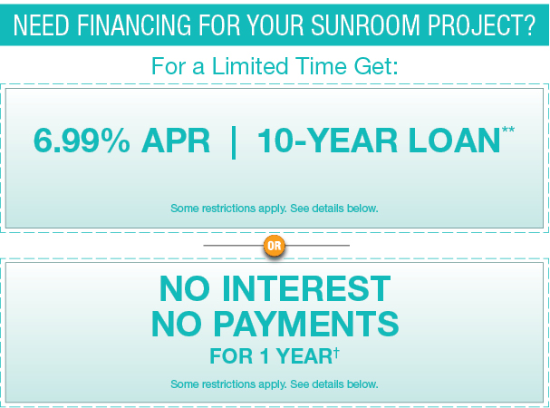 Sunroom financing available