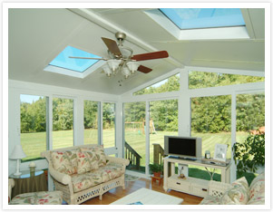 Sunroom with Insulated Glass Roof Panels Photo