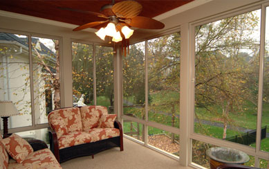 Sun room information sunroom types options patio for Screen porch roof options