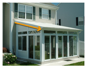 Single-Slope Roof Sunroom Picture