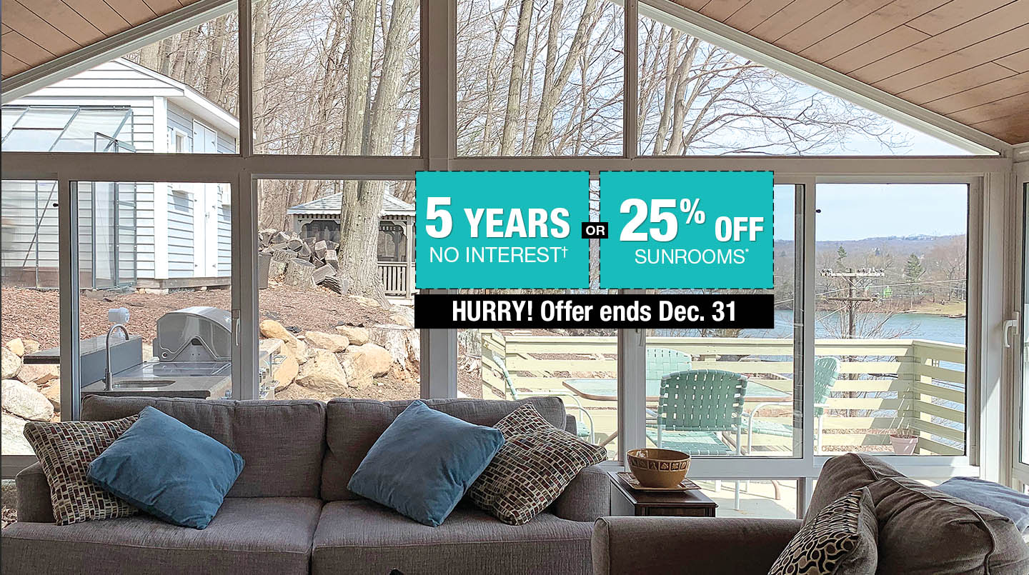 25% Off Sunrooms