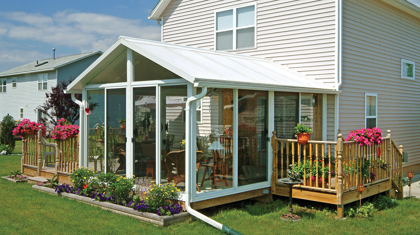 Sunroom kit easyroom diy sunrooms patio enclosures for Front porch kits for sale