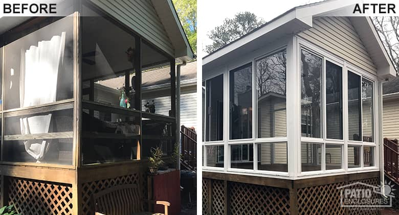 Baltimore Screened-in Porch into a Glass Sunroom Photo 1