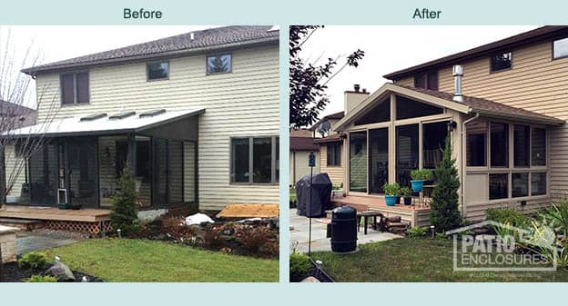 Buffalo Four Season Sunroom Before And After Picture