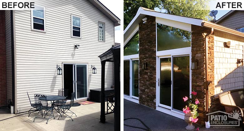 Four Season Room Added To Ny Home Patio Enclosures