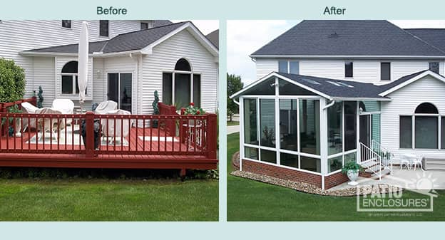 Cleveland 3 Season Sunroom Gabled Roof Patio Enclosures
